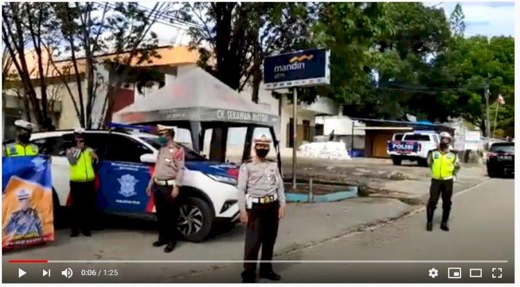 Video, Sat Lantas Polres Belu Lakukan Penling Ajak Masyarakat Patuh Imbauan dan Protokol Kesehatan Pencegahn Covid-19