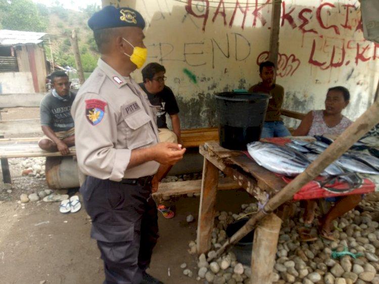 Sambang Binkamsa, Sat Pol Airud Tegur Masyarakat Agar Jaga Jarak dan Selalu Pakai Masker