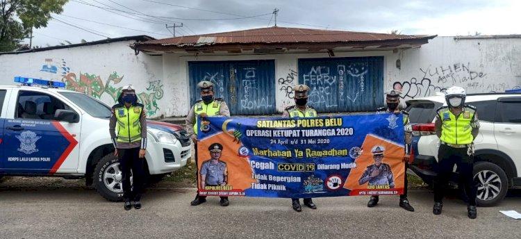 H-1 Lebaran, Sat Lantas Polres Belu Kembali Turun ke Jalan Imbau Warga Patuhi Imbauan dan Protokol Kesehatan Cegah Covid-19