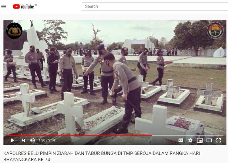 Video, Kapolres Belu Pimpin Ziarah dan Tabur Bunga di TMP Seroja Haliwen Jelang Hari Bhayangkara ke 74