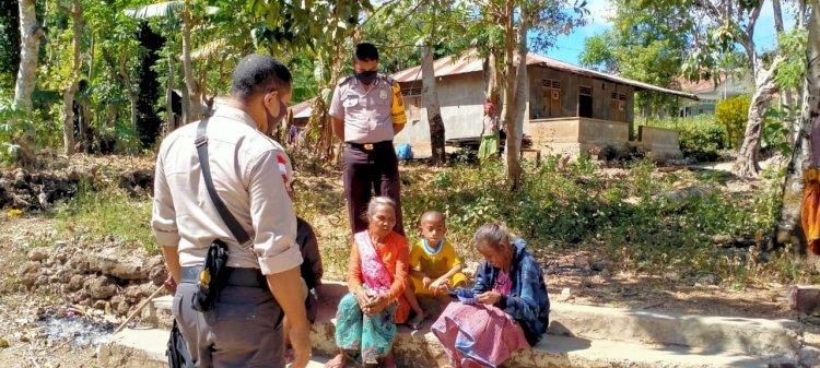 Patroli Dialogis, Polsek Lasiolat Terus Serukan Protokol Kesehatan kepada Masyarakat