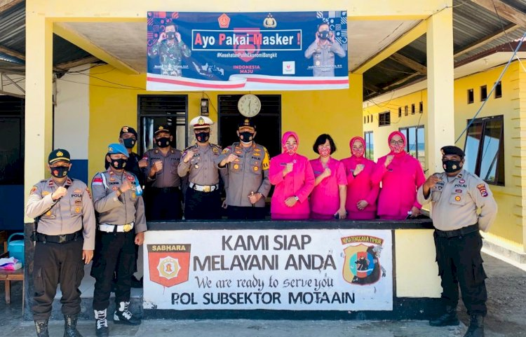 Kunjungi Pos Motaain, Kapolres Belu Minta Anggota Jaga Sinergitas dengan Stake Holder Perbatasan