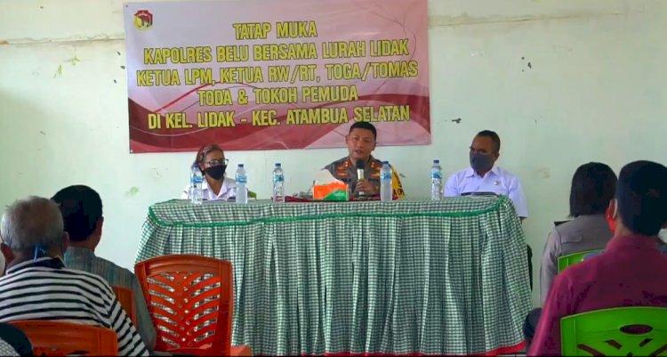 Jalin Silaturahmi, Kapolres Belu Gelar Tatap Muka dengan para Tokoh dan Warga Kelurahan Lidak