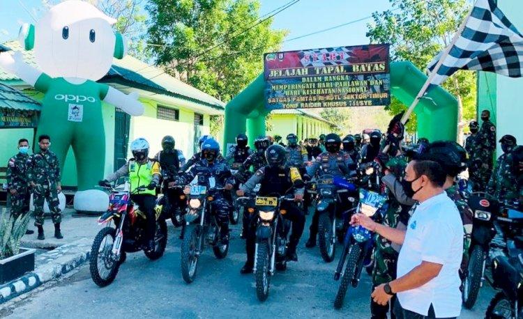Kapolres Belu Bareng Dandim dan Dansatgas, Pimpin Patroli Jelajah Tapal Batas RI-RDTL