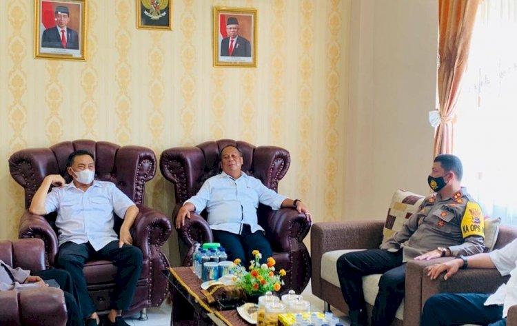 Pilkada 2020, Kapolres Belu Terima kunjungan kerja Kasatgas Nusantara Polri, Irjen. Pol. Drs. Suntana, M.Si