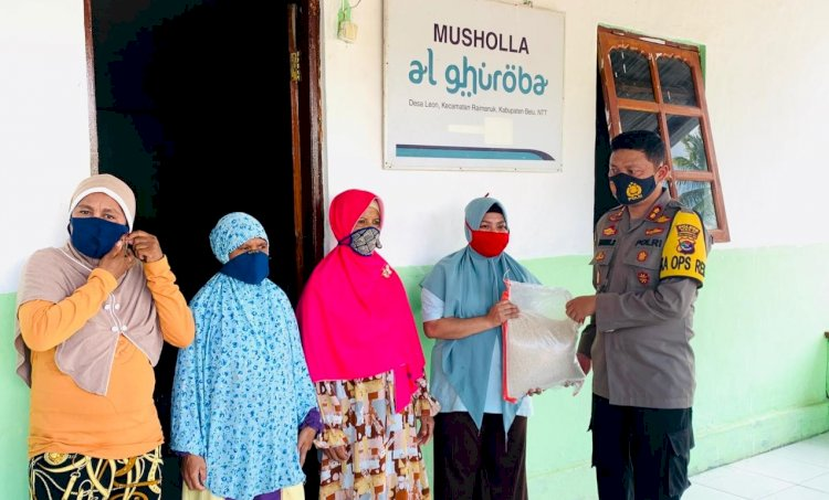 Isi Binrohtal, Kapolres Belu Jalin Silaturahmi dan Berbagi Sesama dengan Umat Muslim di Pelosok Kota