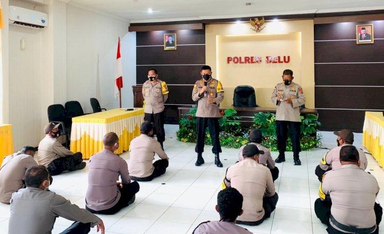 Anev Kinerja Bhabinkamtibmas, Kapolres Belu Bahas Pembentukan Kampung Tangguh Nusantara