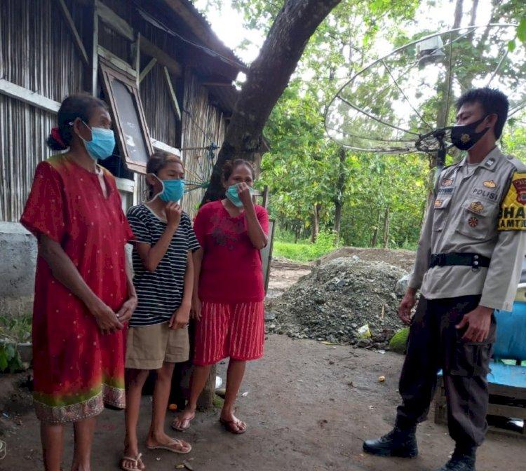Mari Terus Disiplin Pakai Masker dan Jaga Jarak, Pesan AIPTU Triyono ke Masyarakat Binaannya