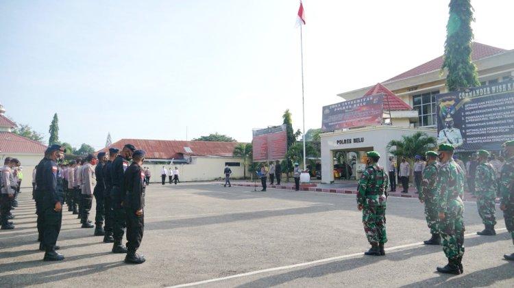 Setelah Pengamanan Putusan MK, Polres Belu Kembali Turun Penuh Amankan Rapat Pleno Penetapan Paslon Terpilih