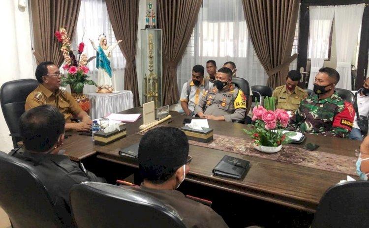 Rakor Forkompinda, Kapolres Belu: Polri Bersama Inskait Jamin Keamanan Masyarakat Perbatasan saat Perayaan Paskah