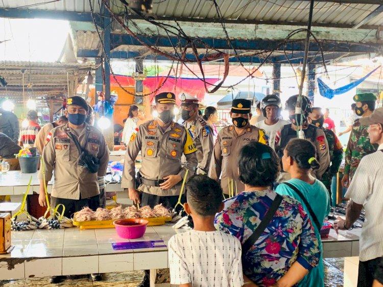 Kepung Pasar Baru Atambua, Polres Belu dan Instansi Terkait Gelar KRYD dengan Sasaran Premanisme