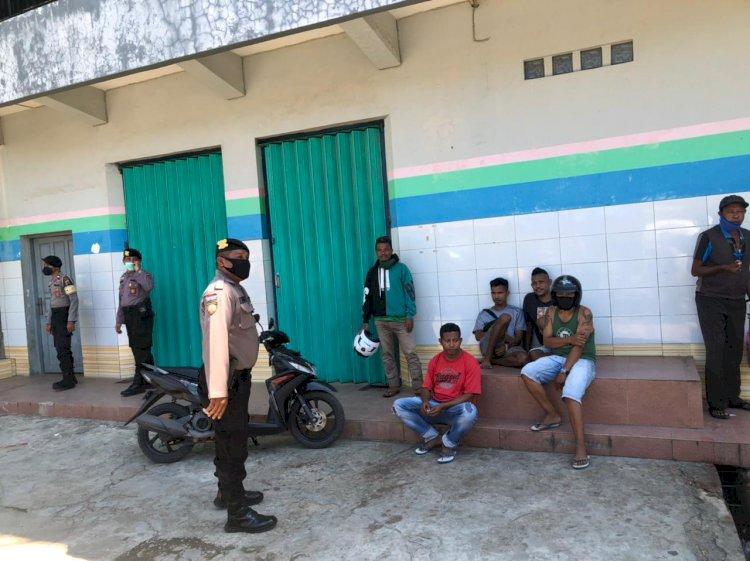 Patroli Dialogis, Sat Samapta Polres Belu Imbau Masyarakat Patuhi 5 M