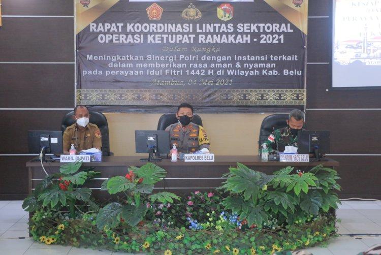 Satukan Persepsi, Polres Belu Gelar Rakor Lintas Sektoral Kesiapan Operasi Ketupat Ranakah 2021