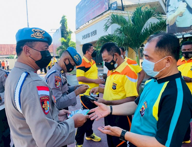 Tegakkan Disiplin dari Dalam, Propam Polda NTT Periksa Sikap Tampang dan Kelengkapan Diri anggota Polres Belu