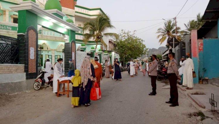 Jamin Keamanan dan Pengawasan Prokes, Polres Belu Turun Penuh Amankan Sholat Idul Adha 1442 H