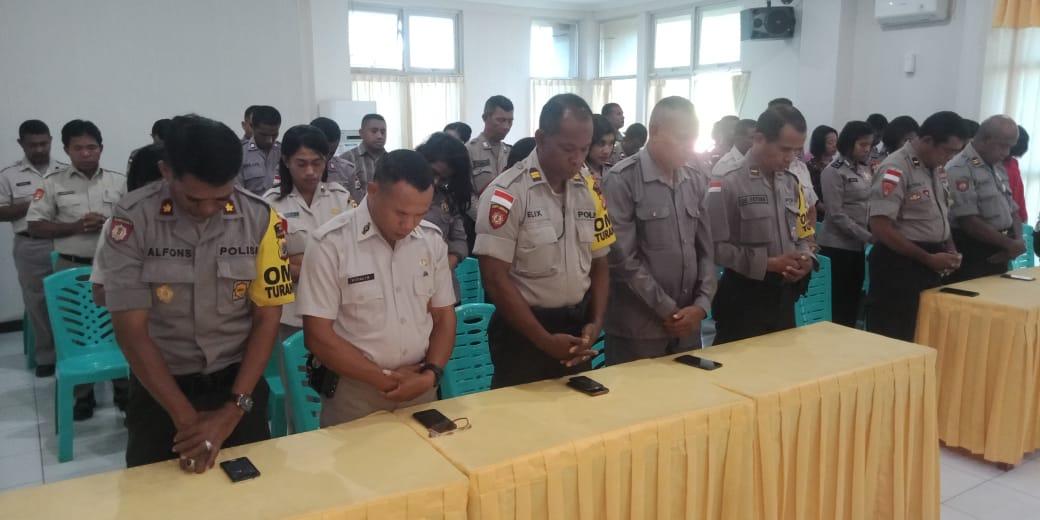 Beri Dukungan Moril, Umat Kristiani Polres Belu Kirim Doa untuk Anggota Yang Bertugas di Jakarta