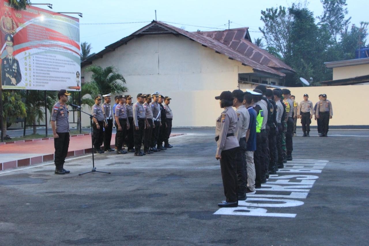 Wakapolres Belu Pimpin Apel Pengamanan Malam Takbiran Sambut Idul Fitri 1440 H