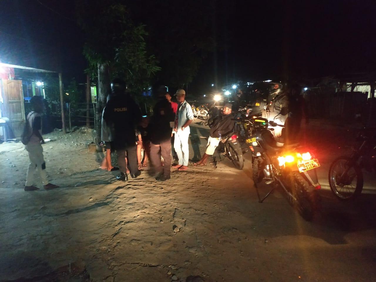 Patroli Malam, Turjawali Sabhara Polres Belu Terus Berikan Imbauan Kamtibmas