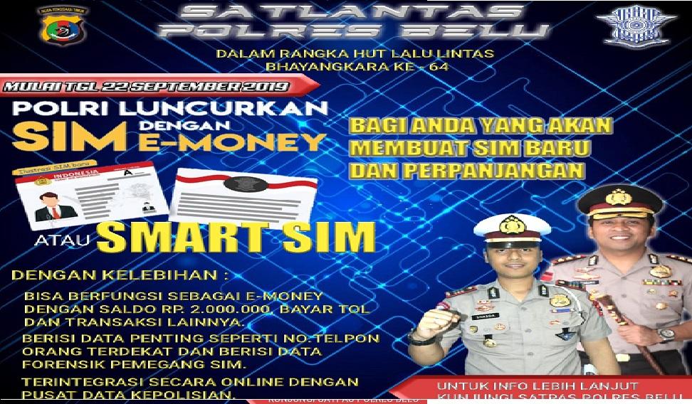 Kapolres Belu: Sambut HUT Korps Lalu Lintas ke 64, Polri akan Luncurkan Smart SIM dengan Fasilitas E-Money