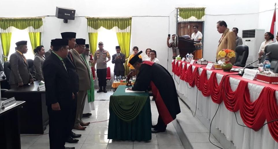 Kapolres Belu Hadiri Pelantikan Pimpinan DPRD Malaka Periode 2019-2024