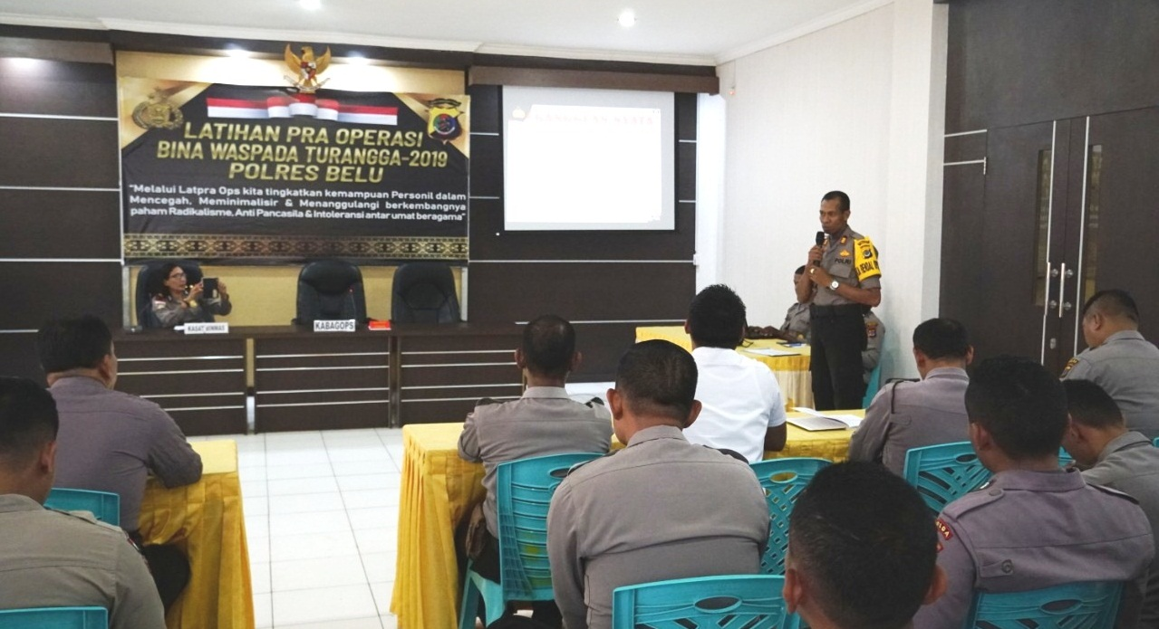 Kabag Ops Polres Belu Buka Latihan Pra Operasi Bina Waspada Turangga 2019