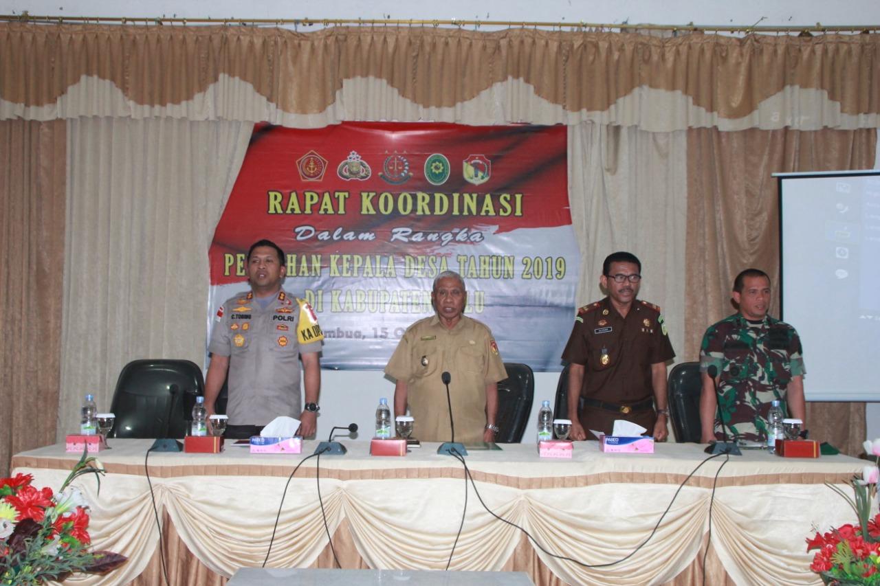 Polres Belu Bersama Instansi Terkait Gelar Rakor Persiapan Pilkades 2019 di Kabupaten Belu