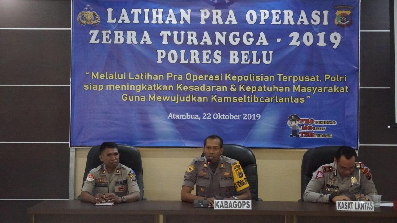 Matangkan Persiapan Operasi Zebra Turangga 2019, Polres Belu Gelar Latihan Pra Operasi
