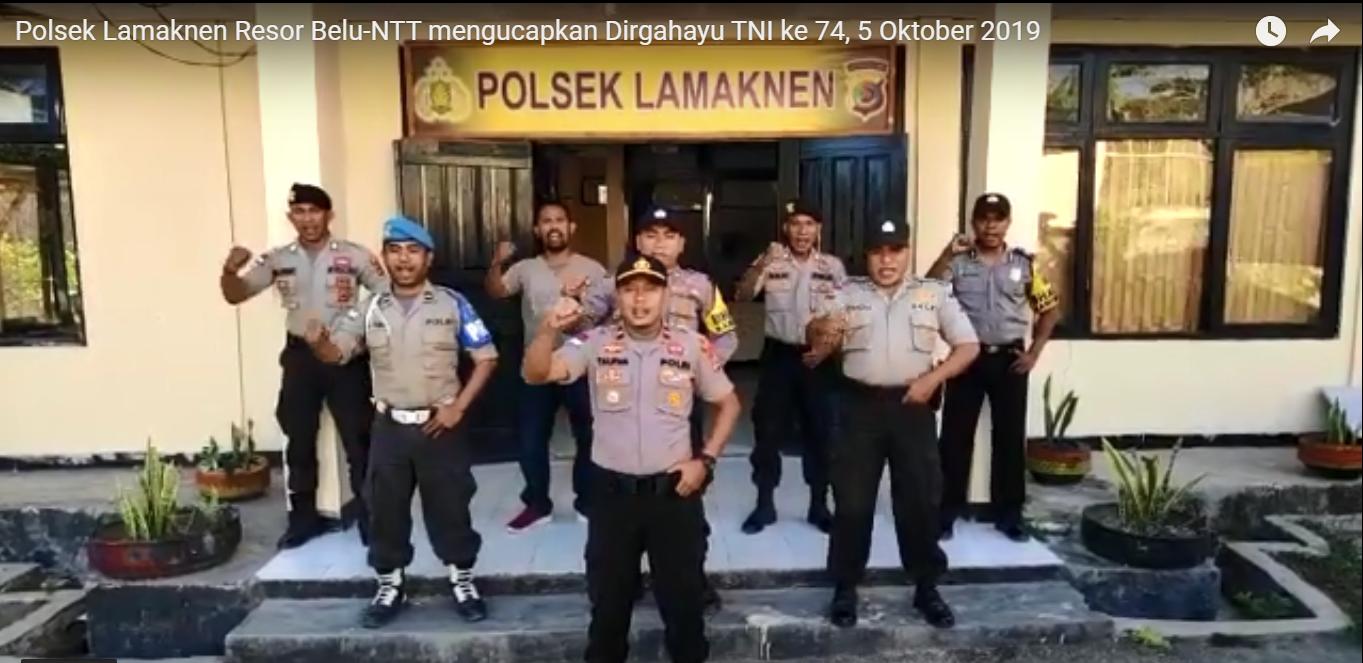 Kapolsek Lamaknen dan Anggota Ucap Selamat Hari Jadi TNI ke 74