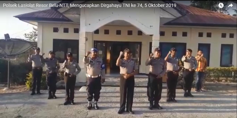 HUT TNI ke 74, Polsek Lasiolat Ucap Selamat dan Panjatkan Doa ini untuk TNI-Polri