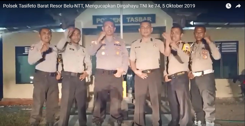 Video, Ucapan Selamat HUT TNI ke 74 Polsek Tasifeto Barat