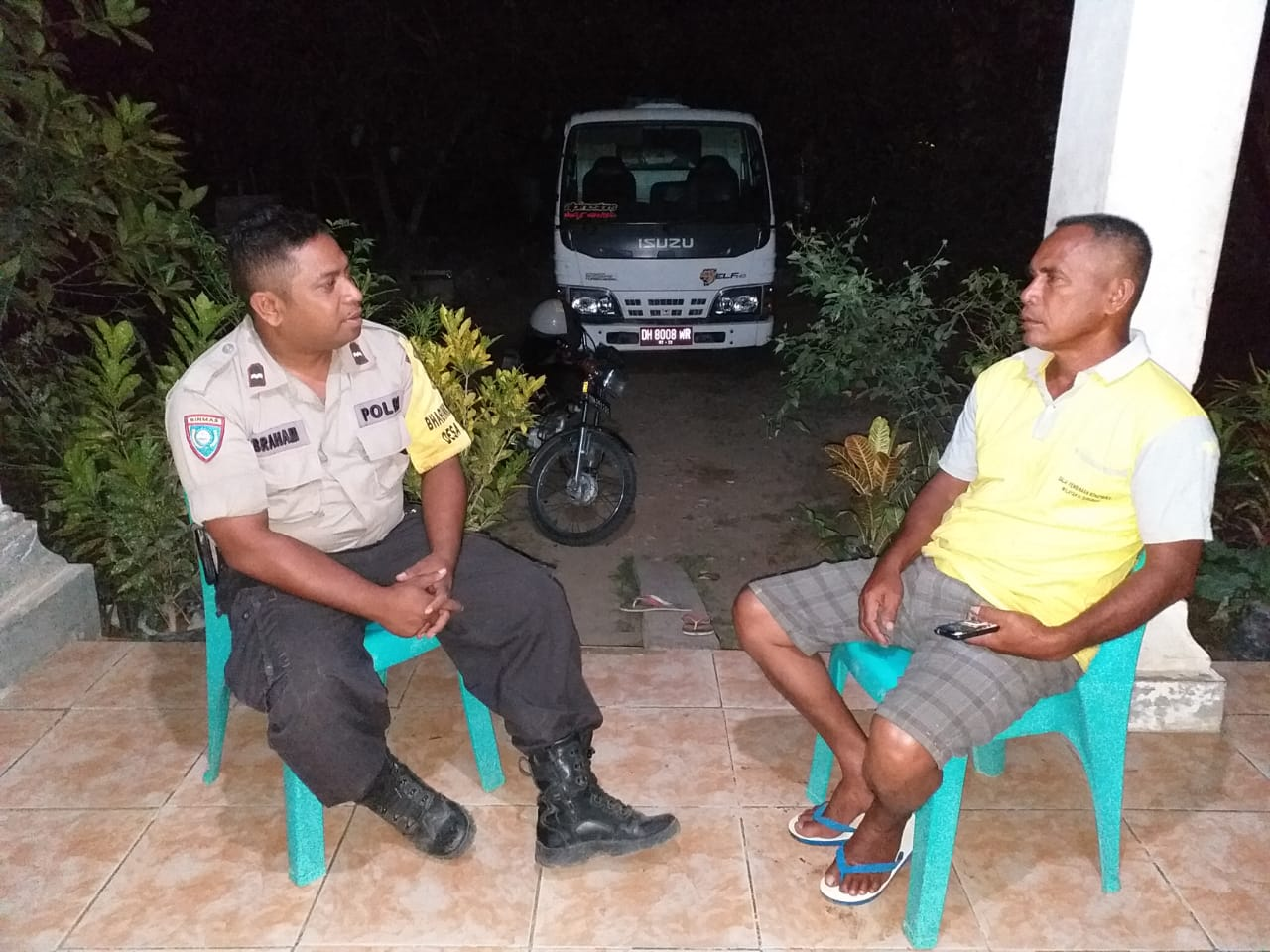 Waspadai Pencurian, Pesan AIPDA Bram Duka Saat Turun Sambang di Desa Binaannya
