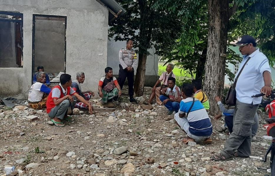 DDS, Bhabinkamtibmas Desa Takirin Ajak Warganya Hidup Rukun dan Damai
