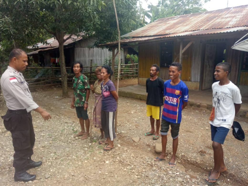 Sambang ke Wilayah Binaannya, AIPDA Remi Kala Imbau Warga Selalu Waspada Saat Curah Hujan Tinggi